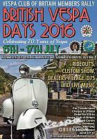 British vespa days Bristol 2016.